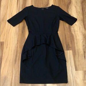 Theory Arvada Black Wool Dress Size 0